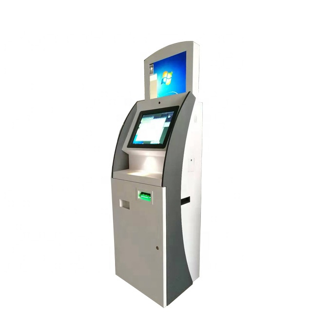 Self currency exchange touch screen <strong>payment</strong> kiosk machine with cash and coin acceptor and dispenser