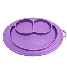 Bpa free food grade silicone collapsible bowl baby eating suction table <strong>plate</strong>