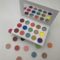 Customise metal empty cardboard white OEM 15 colors makeup private label eyeshadow palette