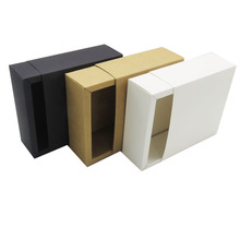 flat packing for lipstick small mini <strong>black</strong> kraft white cardboard draw sliding style paper folding gift box