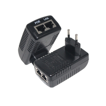 Power Over Ethernet 12V 24V 48V 0.5A PoE <strong>Injector</strong> with US EU UK AU 2pin Plug