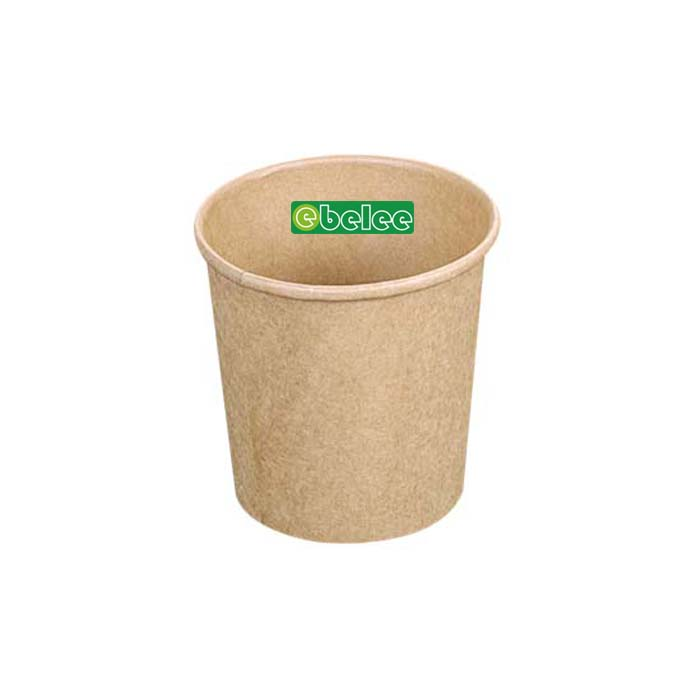 32oz Kraft Paper Soup Cup With Paper Lid