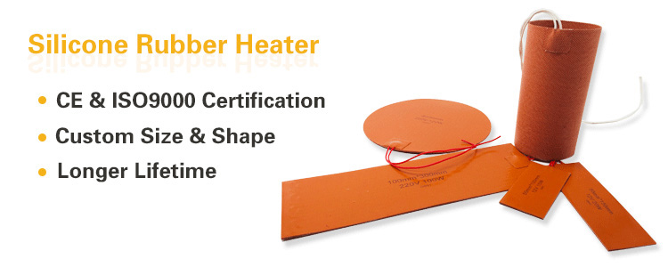 Dia 250mm electric round heater silicone rubber flexible hot plate with digital controller