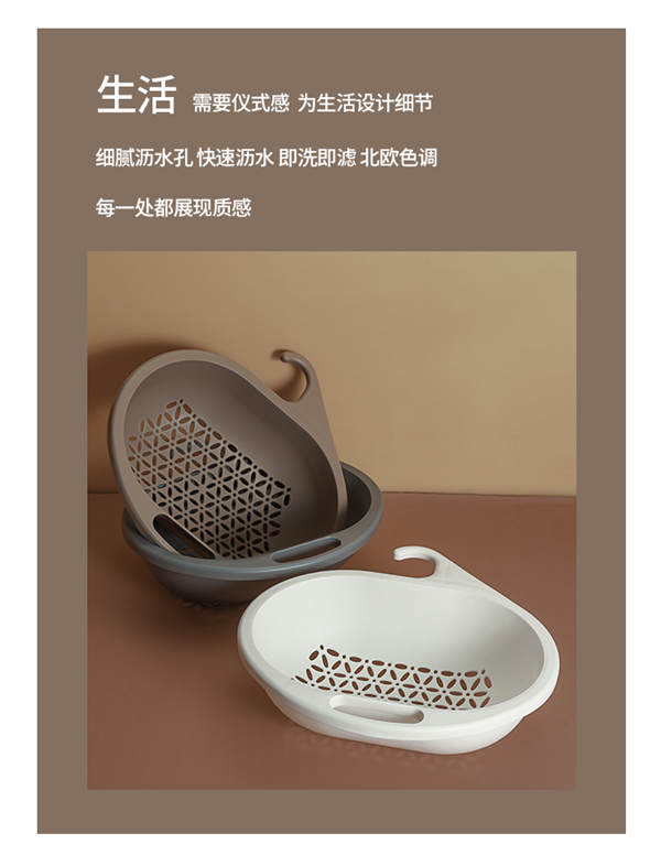 Household The Sink Colander Bowl-shaped Draining Basket Kitchen Racks