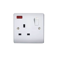 New Design Bakelite 1 Gang 13A Panel Wall Switch Socket Electric Switch And Socket