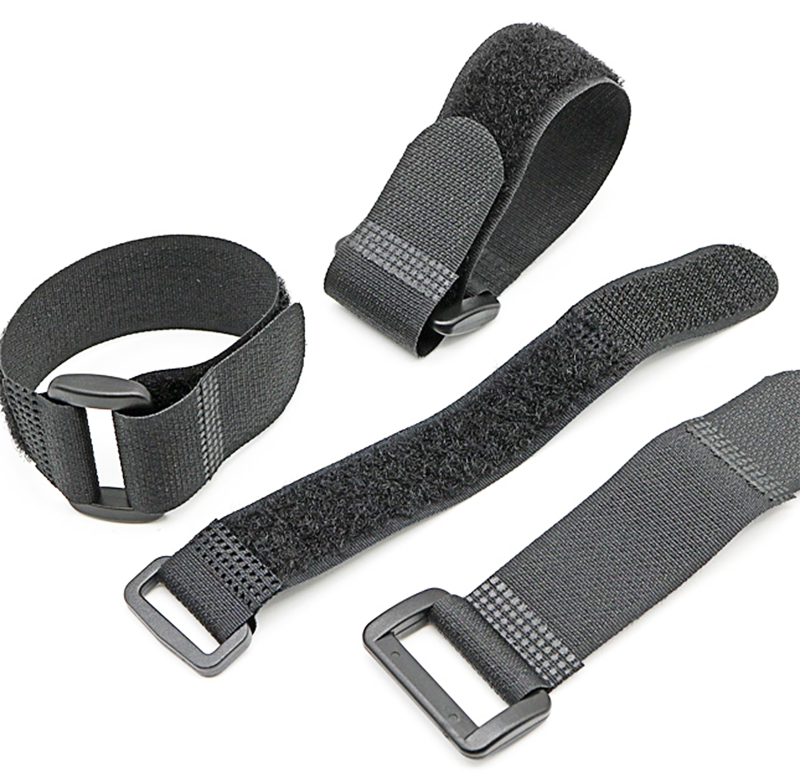 Reusable fasteners 100% <strong>nylon</strong> black and white Hook And Loop Strap
