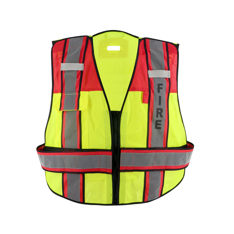 ZUJA Fire Guard Public <strong>Safety</strong> Red Padding High Visibility <strong>Safety</strong> Vest
