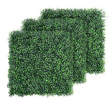 artificial boxwood hedge privacy fence screen greenery panels