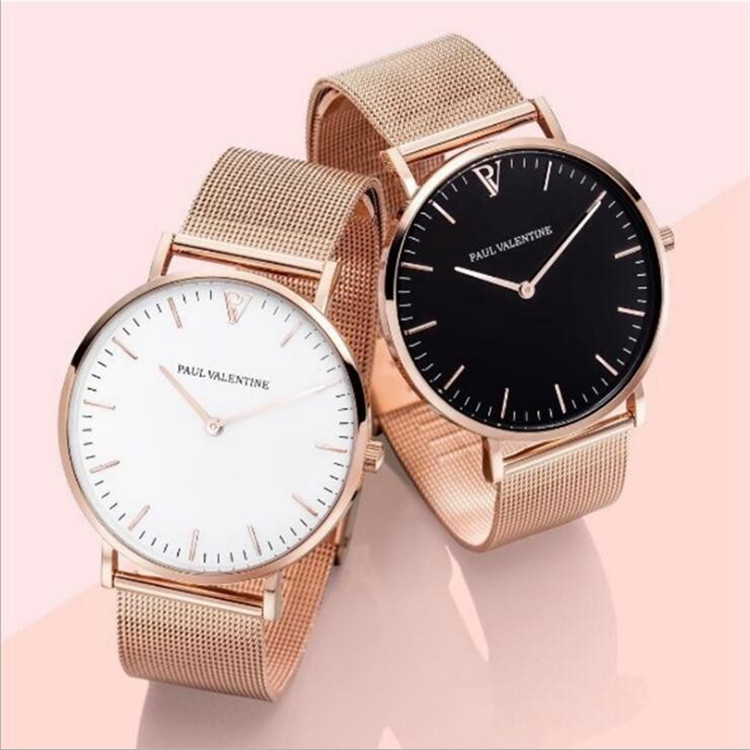 Wish/AliExpress/ Rose Gold Stainless <strong>Steel</strong> Wristband PV Fashion Women Quartz Watch