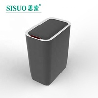 8L household plastic waste bin wholesale Kitchen automatic smart trash can/garbage bin