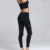 High Quality Black Fitness High Waisted Tights Sport Seamless Leggings For Women