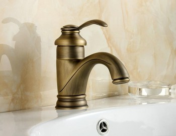 Antique single handle brass basin faucet water tap bathroom fauset kitchen tap