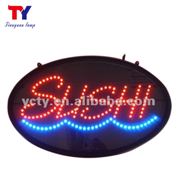 Manufacture custom waterproof outdoor oval led moving open sign