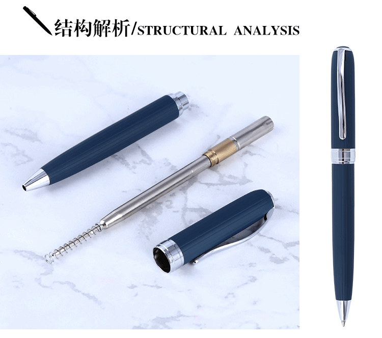 2020 Most popular steel ballpoint pen office metal ball pen with Germany ink