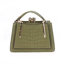Embroidery women <strong>bag</strong> metal clip office lady handbag 19SH-8218D