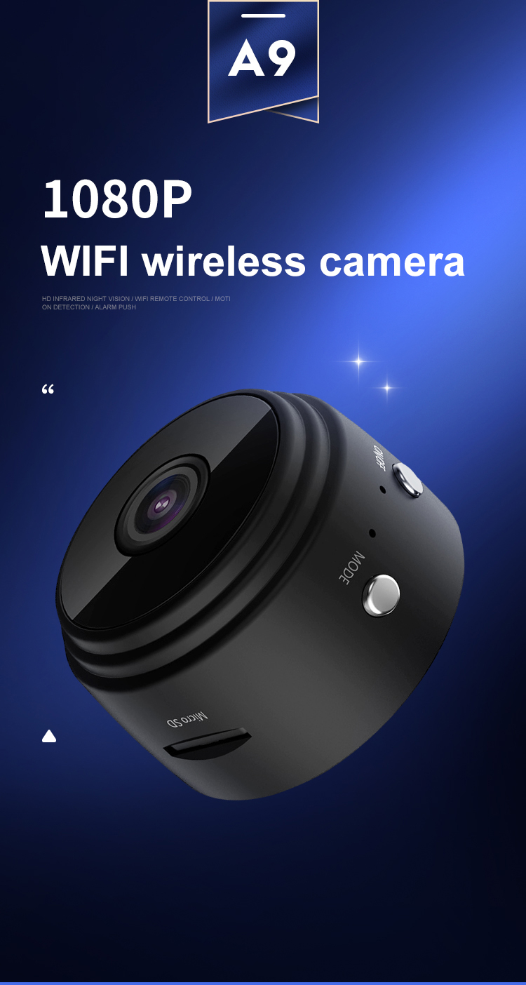Mini Wifi Smart Camera Wireless Security Camera Magnet Hidden 1080P Portable Camera