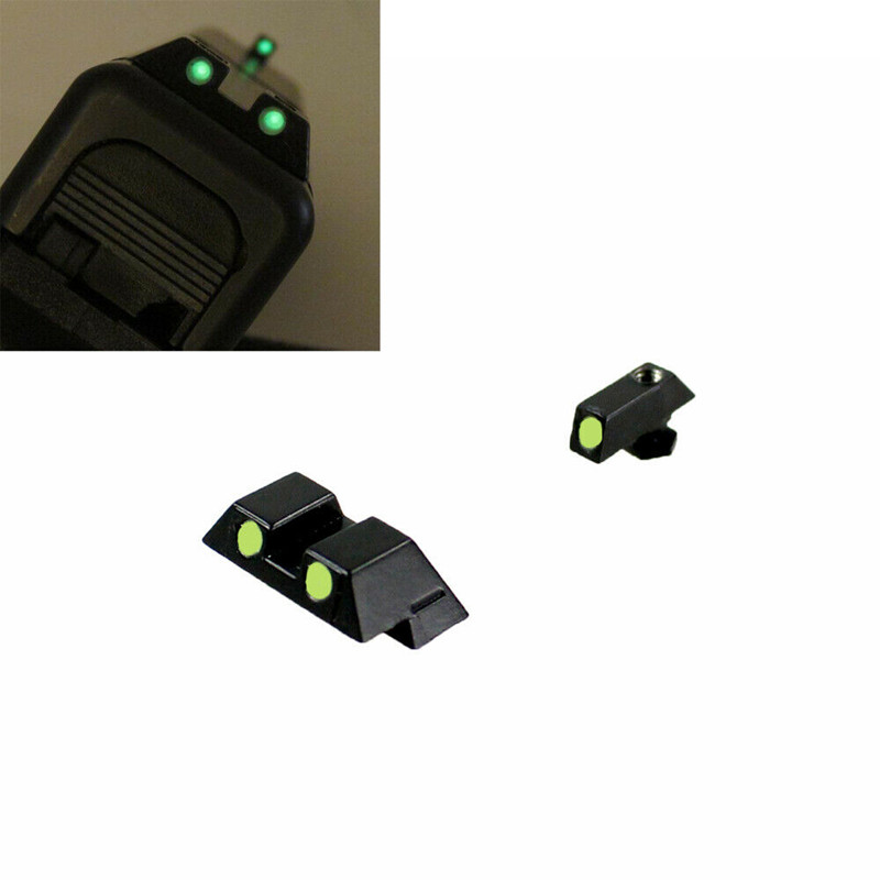 Tactical red green Fiber Optic Front Rear dot Sights Pistol Glock 17 19 Night Sight scope Hunting accessories parts
