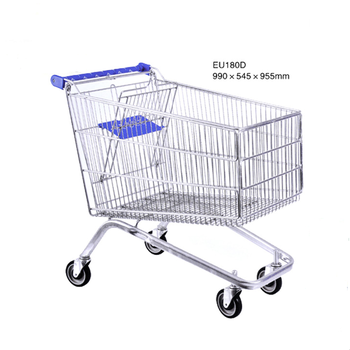 Good quality large capacity metal retail hand push cart