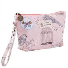 Tarpaulin printed ladies portable clutch bag waterproof travel wash storage makeup cosmetic bag