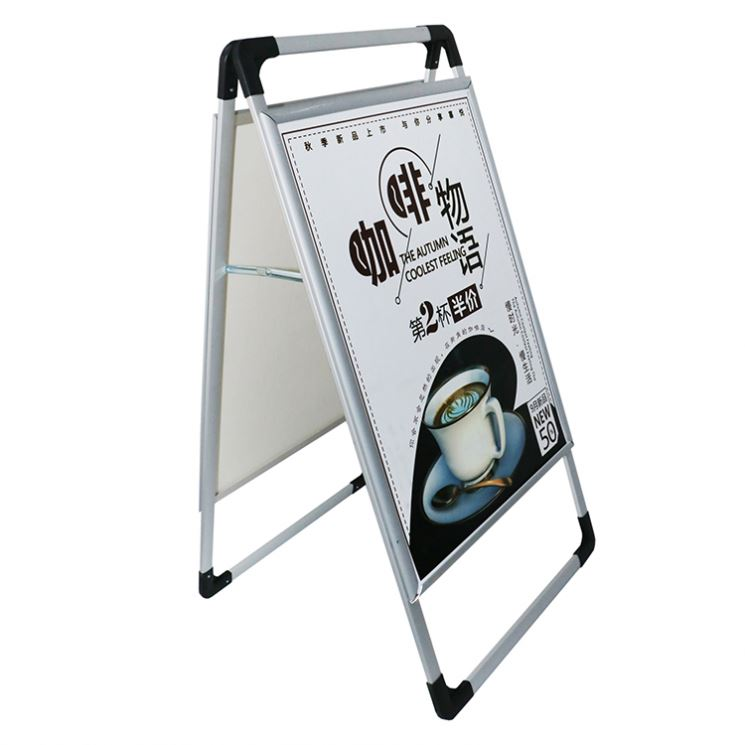 Professional <strong>A0</strong> Poster Frame Aluminum A Frame Double Side Poster Stand High Quality Double Side Poster Stand With Great Price
