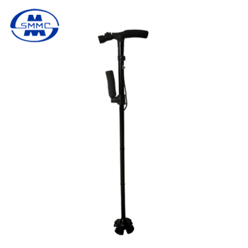 2 Handles Aluminum folding walking cane stick with LED light