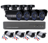 Sunivision 4CH Home Security AHD NVR Camera Kit CCTV with 4pcs Outdoor Waterproof H.264 720P Camera