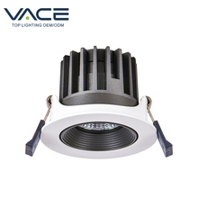 VACE Indoor Modern Integrated 6 9 18 30 <strong>W</strong> COB Black Recessed Led Downlight Ceiling Downlight
