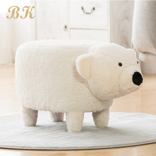 Cheap <strong>Furniture</strong> Animal Shape Ottoman Stool With Storage