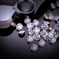 Round Shape 1.4mm Micro Zircon White AAA Cubic Zirconia For Wax