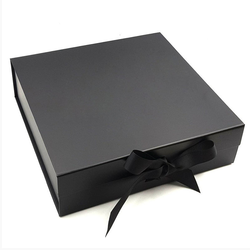 Custom luxury large black cardboard paper garment clothing gift packaging box