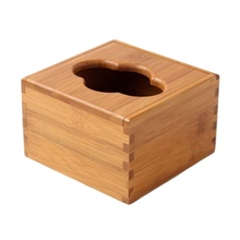 Rectangular Bamboo Wood Tissue Holder Napkin Box