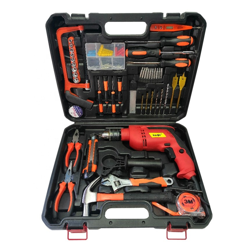 KaQi Model.KQ-1910 Household tools set 650 <strong>W</strong> High speed 13mm drill Heavy duty Hand Electric Impact Drill Kit