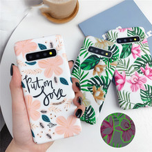 Luminous Phone Case For Samsung Galaxy Note <strong>10</strong> A50 A70 S10e S10 Plus S8 S9 Plus Vintage Flower Leaf Hard PC Back Cover for 11pro