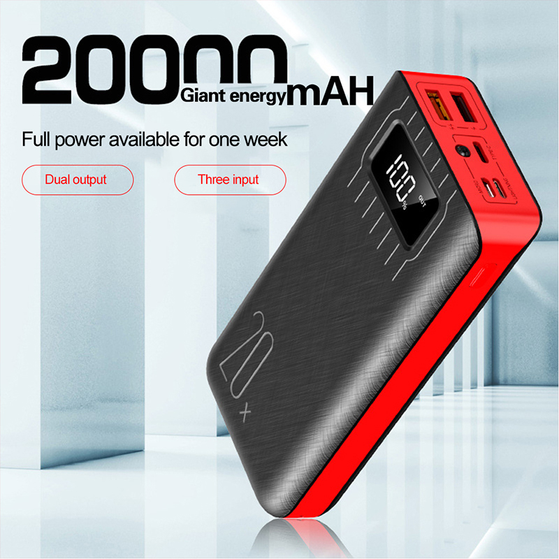 Hot selling 20000mAh Power Bank USB Fast Quick Charge  Powerbank For iphone Portable External Battery Charger