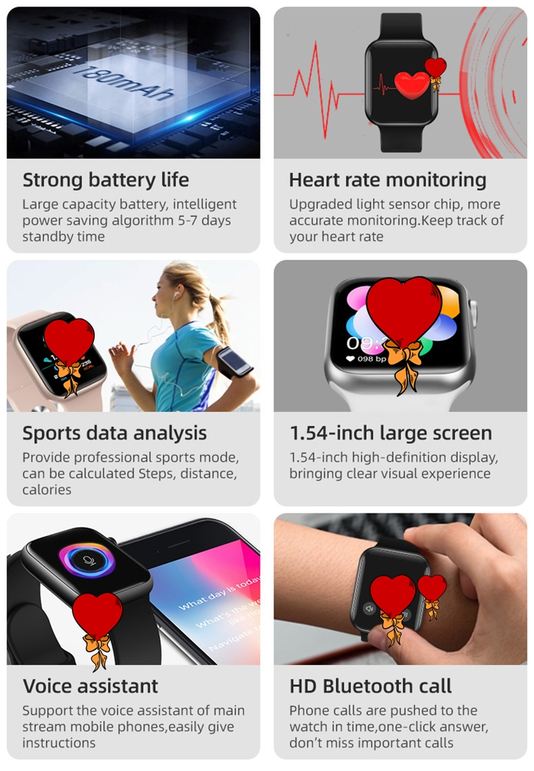 New Men T500 plus Smart Watch band 2020 BT Call Sports Music Watch Women Smartwatch Fitness Tracker Heart Rate