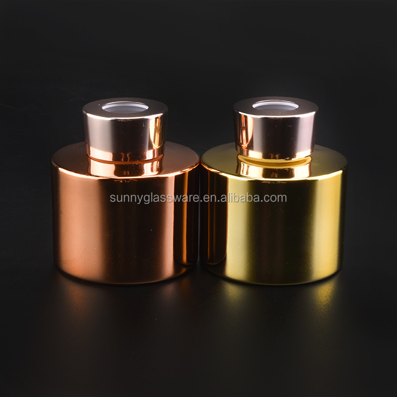 180ml gold glass diffuser bottle with screw lid