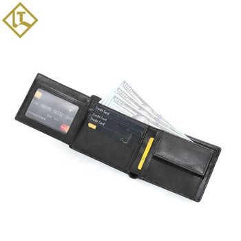 Wholesale custom brand standard wallet rfid blocking full grain smooth genuine leather wallet