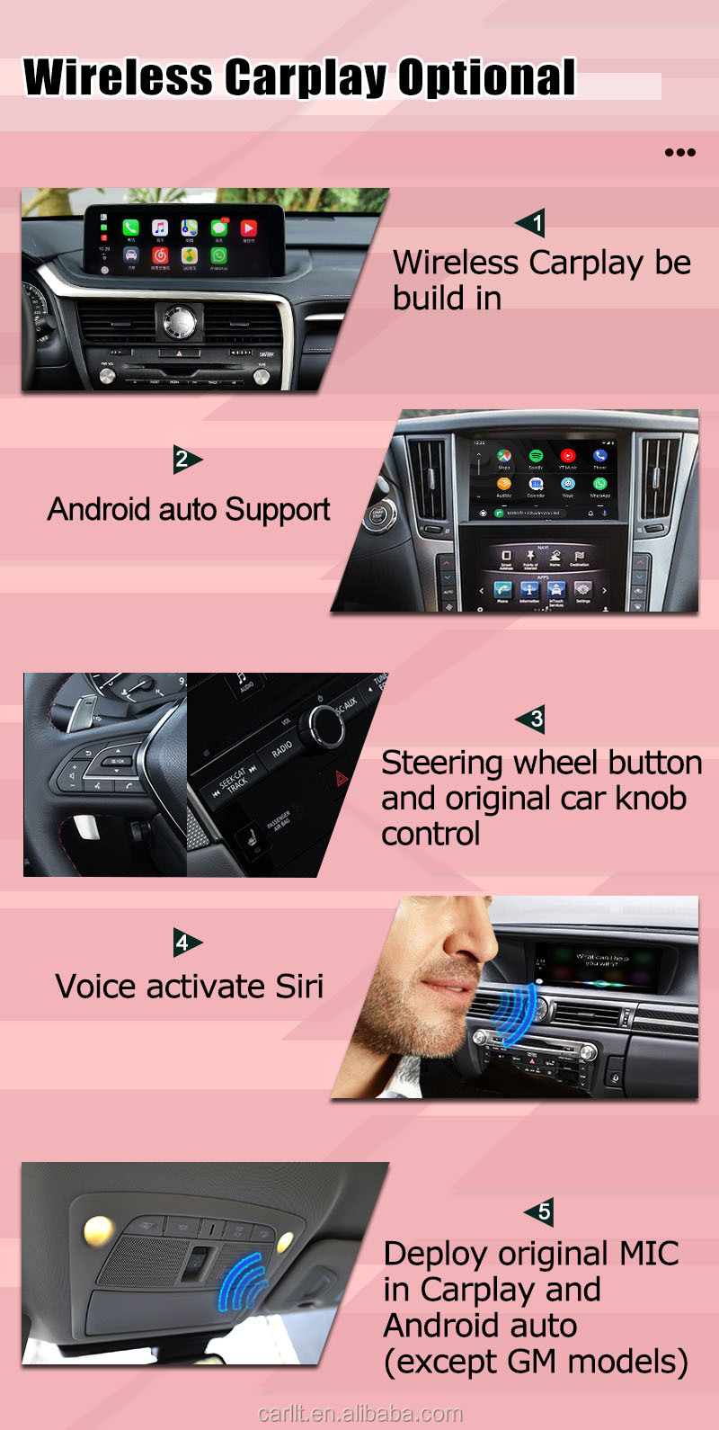 Android Youtube navigation video interface adapter for the car with OEM Carplay by Lsailt