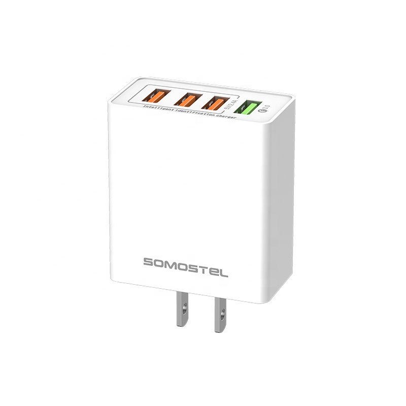 Somostel <strong>A08</strong> factory price QC3.0 high speed output travel adapter multi port cargadores para celulares charger for samsung