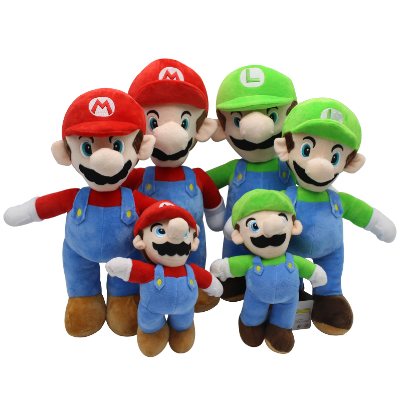 Bros Mario <strong>plush</strong> doll, hot gaming super Mario Stuffed <strong>plush</strong>, Mario Brother Luis PP Cotton <strong>plush</strong> toy for gift