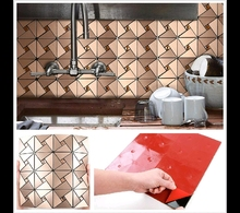 Gorgeous Windmill Puzzle Glass Mixed Aluminum Mosaics Backsplash Stick on <strong>Wall</strong> <strong>Decoration</strong> for Kitchen/<strong>Bathroom</strong> Metal Mosaics
