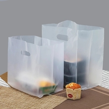 Promotional Tote Plastic Takeaway Packaging Bag for Food