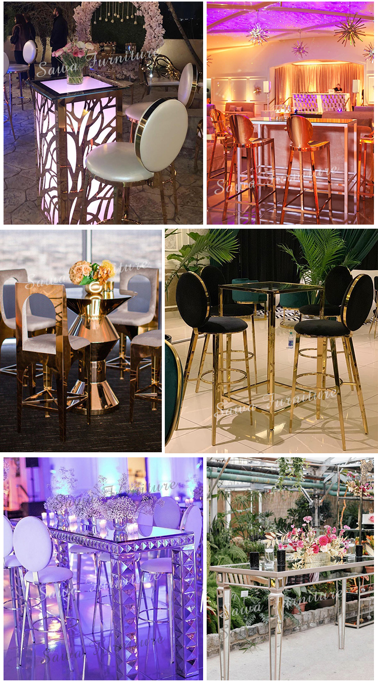2020 hot sale fashion stainless steel  chair  bar  chair  for wedding event and  banquet
