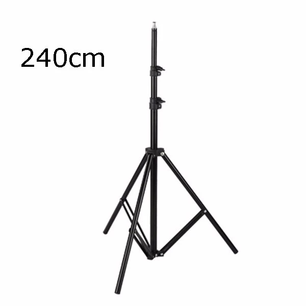 "2.4m Photo Studio Light Stand with 1/4"" Screw Tripod Stand for Video Studio Soft Box Photography Backgrounds"