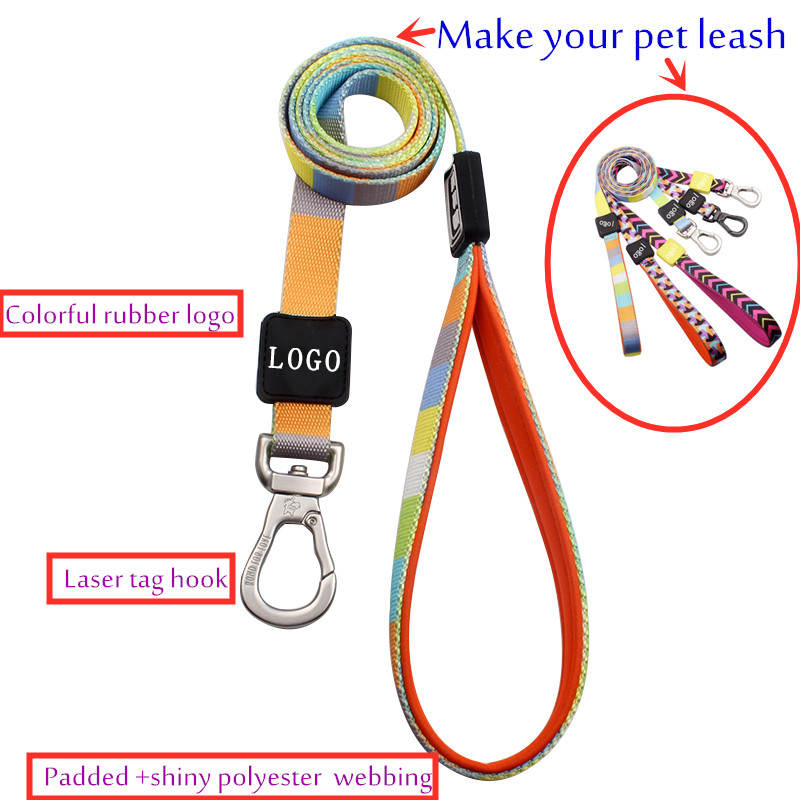 Customized charming pattern dog leash metal clasp wholesale