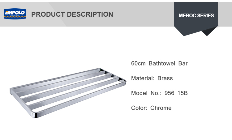 Luxury hotel use bath hardware metal bathroom towel dryer shelf Single tower bar 60 cm