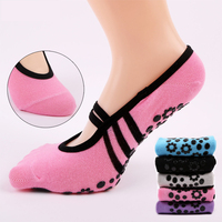 Wholesale Custom Cotton Colorful Women Yoga Socks Plain Grip Fitness Yoga Socks Anti Slip