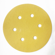 150mm Gold 0/6/7/15 holes abrasive sandpaper disc P60 - 800 hook and loop imported latex paper factory wholesale DH85