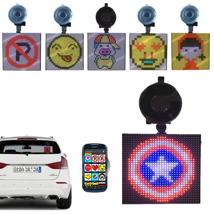 P4-32x32 Fun Screen Emojis Graphic Animation Gif Bluetooth Car <strong>Display</strong> DIY Drawing Emotions Drop-shipping <strong>LED</strong> <strong>Display</strong> Panel