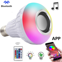 CE RoHS E27 B22 Remote Control APP Control RGB Multi Color Changing Speaker Bluetooth Generation II LED Smart Light <strong>Bulb</strong>